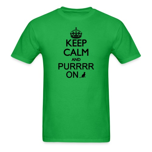 Unisex Tee - Keep Calm and Purrr On - Men's T-Shirt