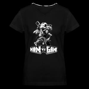 Women's Struggle V-Neck T-Shirt - Women's V-Neck T-Shirt