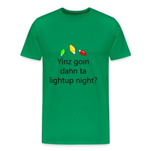 Pittsburgh Chirstmas - Light Up Night - Yinz goin? - Men's Premium T-Shirt