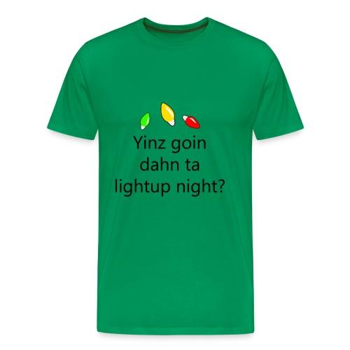 Pittsburgh Chirstmas - Light Up Night - Yinz goin? - Men's Premium T-Shirt