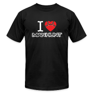 T-Shirts ~ Men's T-Shirt by American Apparel ~ Bound Heart T - Dark