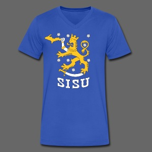 SISU UP Lion - Men's V-Neck T-Shirt by Canvas