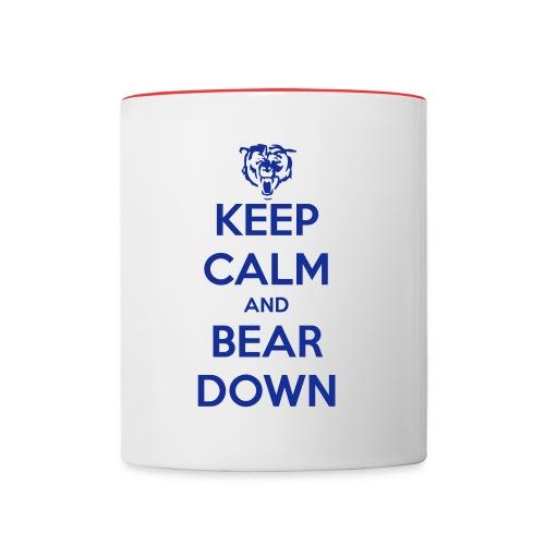 Keep Calm and Bear Down Mug - Contrast Coffee Mug