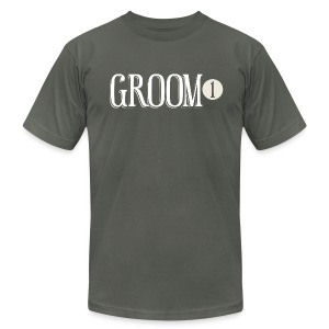 Groom 1 - Men's T-Shirt by American Apparel