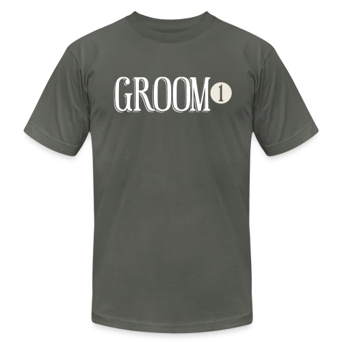 Groom 1 - Men's Fine Jersey T-Shirt
