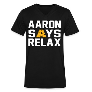 Aaron Says Relax - Men's V-Neck T-Shirt by Canvas