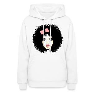 Curly Ashley pink  - Women's Hoodie