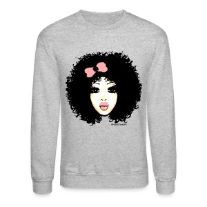 Curly Ashley (pink) - Crewneck Sweatshirt