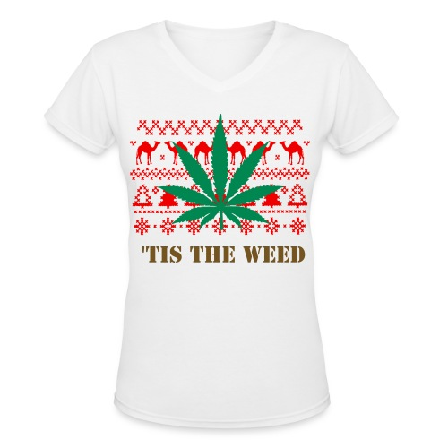 'This The Weed - Women's V-Neck T-Shirt