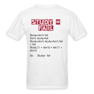 Study Fail White - Men's T-Shirt