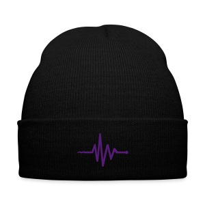 Frequency Beanie - Knit Cap with Cuff Print