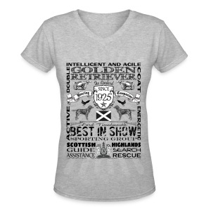 Golden Retriever 'Best in Show' Women's Tshirt - Women's V-Neck T-Shirt