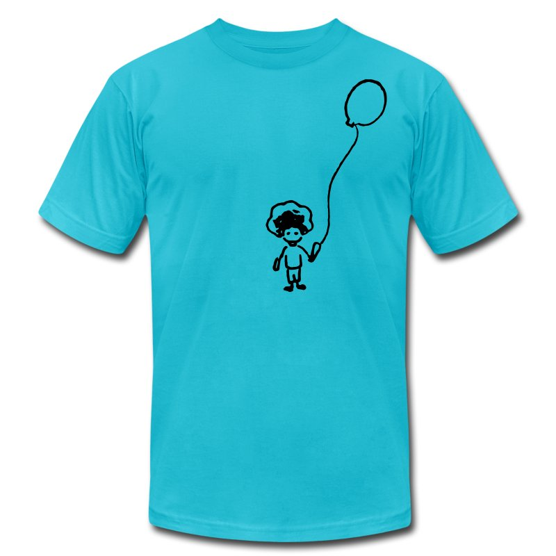 Balloon Kid - Men's T-Shirt by American Apparel