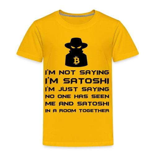 Toddler Bitcoin Satoshi T Shirt - Toddler Premium T-Shirt