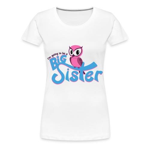 Big Sister Owl Women's T-Shirt - Women's Premium T-Shirt