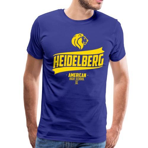 Heidelberg Est Retro Tee - Blue - Men's Premium T-Shirt