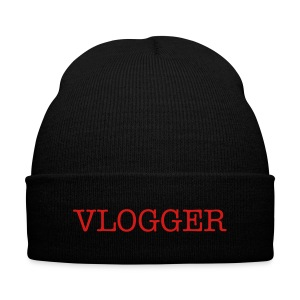 Vlogger Beanie - Knit Cap with Cuff Print