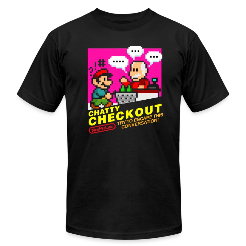[chattycheckout] - Men's T-Shirt by American Apparel