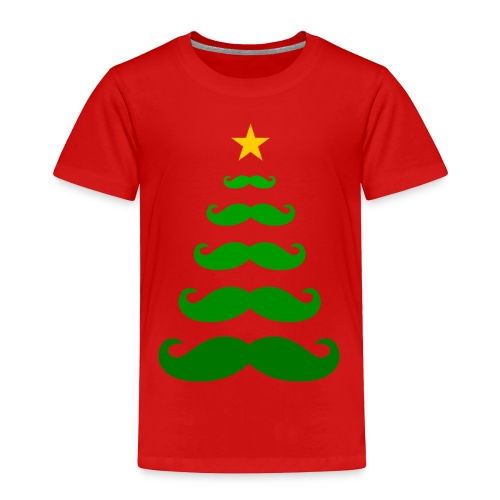 Moustache Christmas Tree - Toddler T-shirt - Toddler Premium T-Shirt