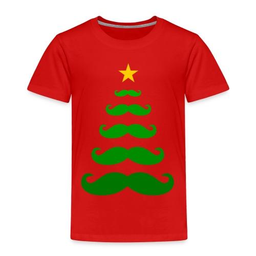 Moustache Christmas Tree - Toddler T-shirt - Toddler Premium T-Shirt