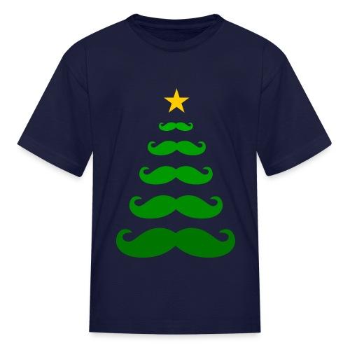 Moustache Christmas Tree - Kids T-shirt - Kids' T-Shirt