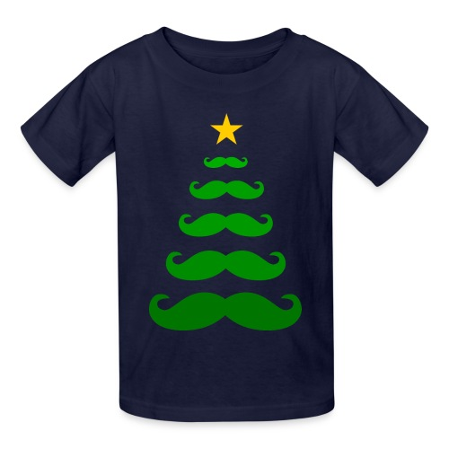 Moustache Christmas Tree - Kids T-shirt - Kids' T-Shirt