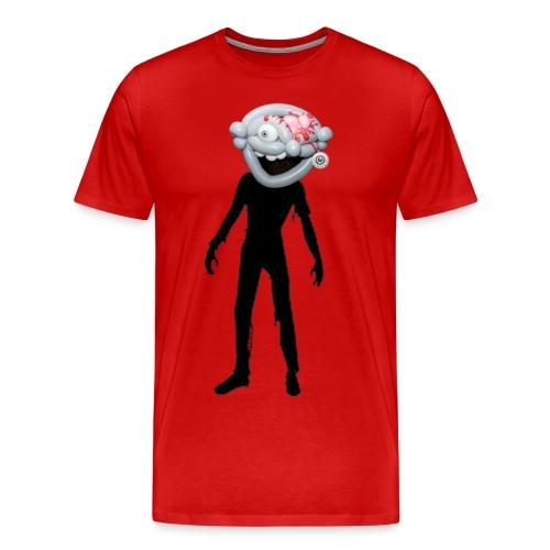 Zombie balloon head w/silhouette T - Men's Premium T-Shirt