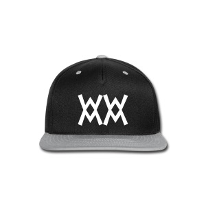 SnapBack cap with White logo - Snap-back Baseball Cap