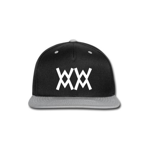 SnapBack cap with White logo - Snap-back Baseball Cap