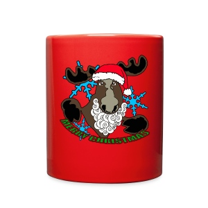 Moose Santa  - Full Color Mug