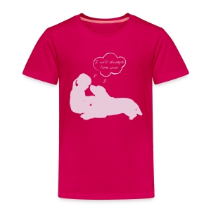 Toddler Premium T-Shirt - Proceeds from shirt sales will benefit dogs at rescue facilities by providing collars, leashes, toys and treats to adoptable dog foster families and dogs housed in kennels.  Facilities/Groups who will receive donations include Washington Humane Society, Ruth Steinert SPCA, City Dogs Rescue, Greenbelt Animal Shelter and others.