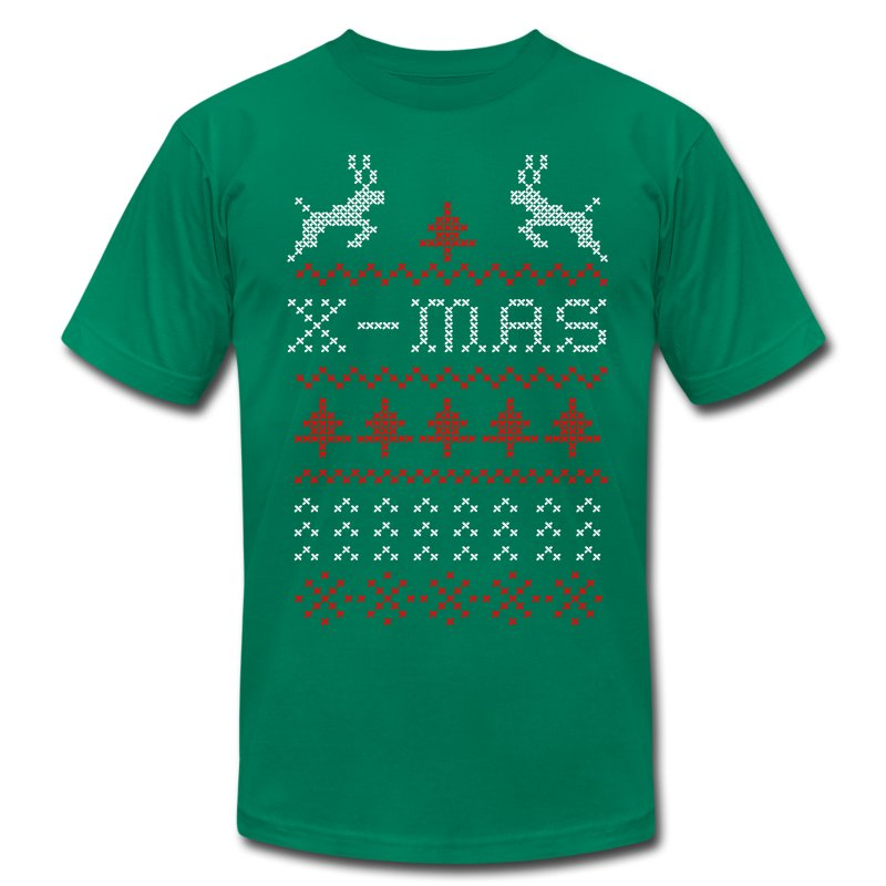 X mas ugly sweater design for green t shirt spreadshirt for Tacky t shirt ideas