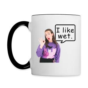 I Like Wet. - Contrast Coffee Mug