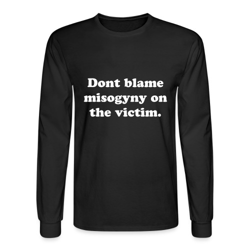 Dont blame the victim - Men's Long Sleeve T-Shirt