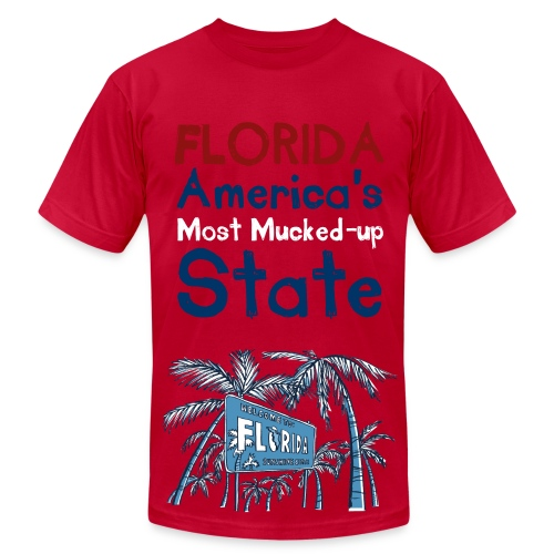 Florida: America's Most Mucked-Up State - Mens - Men's Fine Jersey T-Shirt