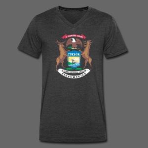 Michigan Flag - Men's V-Neck T-Shirt by Canvas