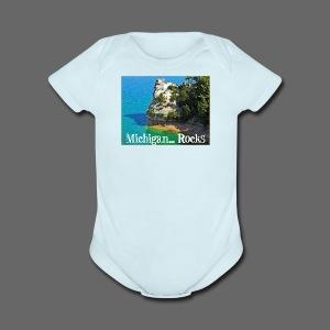 Michigan Rocks - Short Sleeve Baby Bodysuit