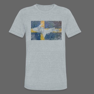 UP Swedish Flag - Unisex Tri-Blend T-Shirt by American Apparel