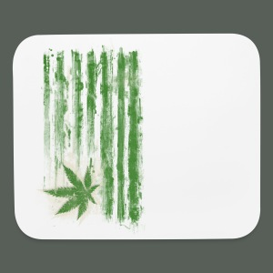 Vintage Pot Leaf Flag - Mouse pad Horizontal