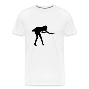 girls silhouette on table tshirt front - Men's Premium T-Shirt