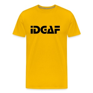 IDGAF Stop font yellow shirt - Men's Premium T-Shirt