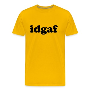idgaf lower case cooper font - Men's Premium T-Shirt