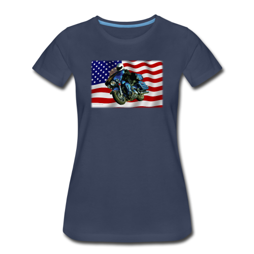 Ladies Premium T Front FlagHD - Women's Premium T-Shirt