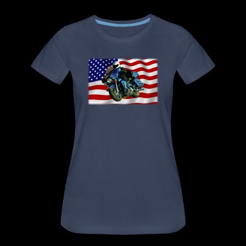 Ladies Premium T Front FlagHD - Women's Premium T-Shirt