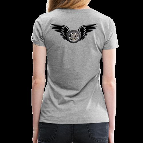 Ladies Premium T Back HWing - Women's Premium T-Shirt