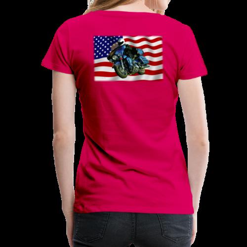 Ladies Premium T Back FlagHd - Women's Premium T-Shirt