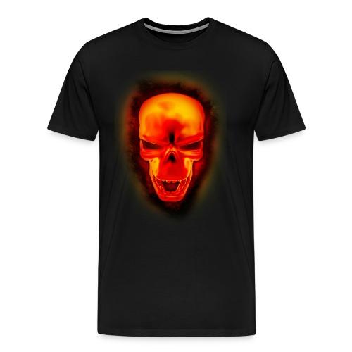 Skull In Fire - T  - Men's Premium T-Shirt