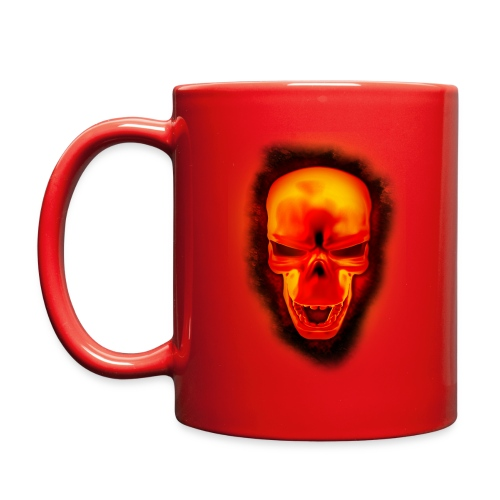 Skull in fire - Mug  - Full Color Mug