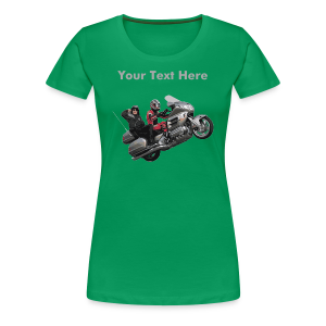 Ladies Premium T Front WingWheelie Custom - Women's Premium T-Shirt