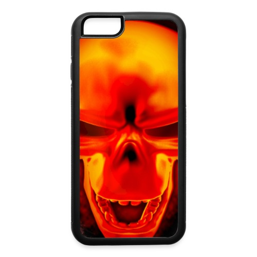 Skull on fire -  iPhone 6 Rubber Case - iPhone 6/6s Rubber Case